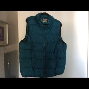 Ruff Hewn turquoise quilted vest 3X